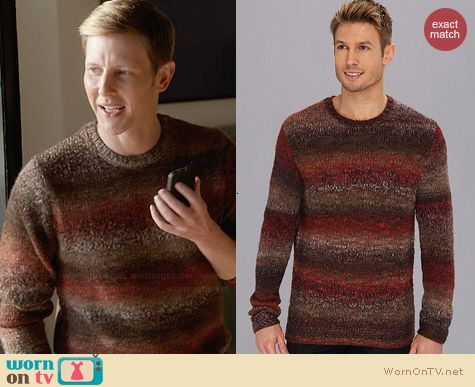 Perry Ellis Ombre Stripe Sweater worn by Gabriel Mann on Revenge