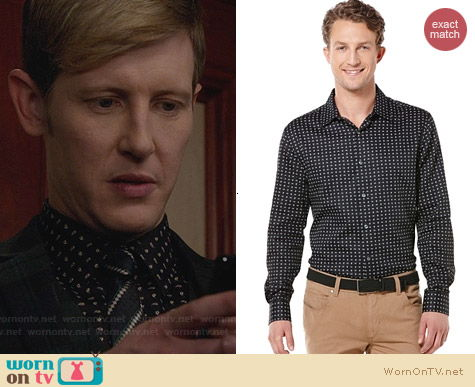 Perry Ellis Paisley Foulard Shirt worn by Gabriel Mann on Revenge