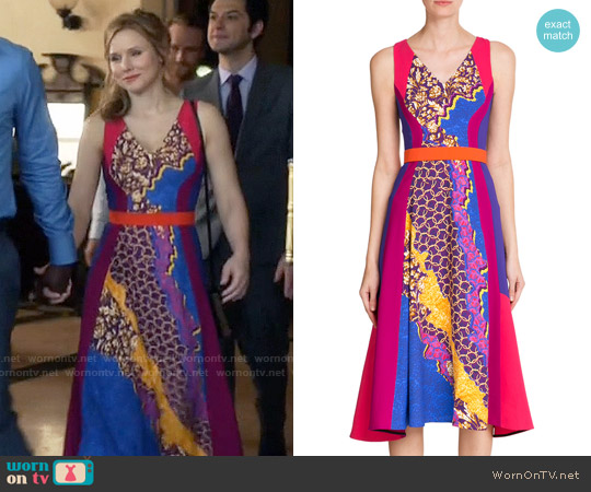 Peter Pilotto Vapor Flared Dress worn by Kristen Bell on House Of Lies