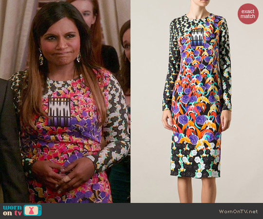 Peter Pilotto Kia Dress worn by Mindy Kaling on The Mindy Project