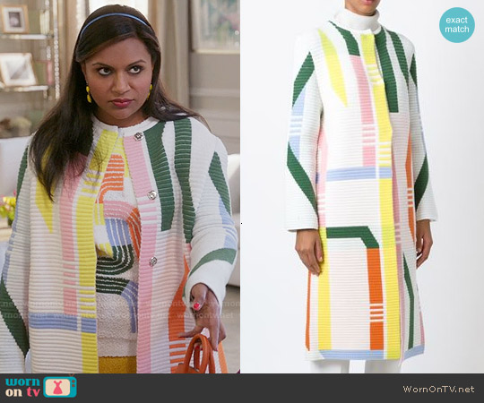 Peter Pilotto Track Coat worn by Mindy Lahiri on The Mindy Project