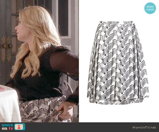 Peter Som Zebra Skirt worn by Alison DiLaurentis on PLL