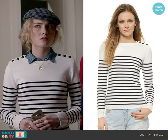 Petit Bateau Mike Sweater worn by Skyler Samuels on Scream Queens