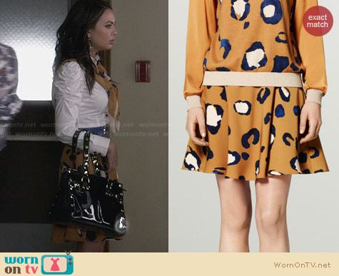 Phillip Lim for Target Leopard Print Skirt worn by Janel Parrish on PLL