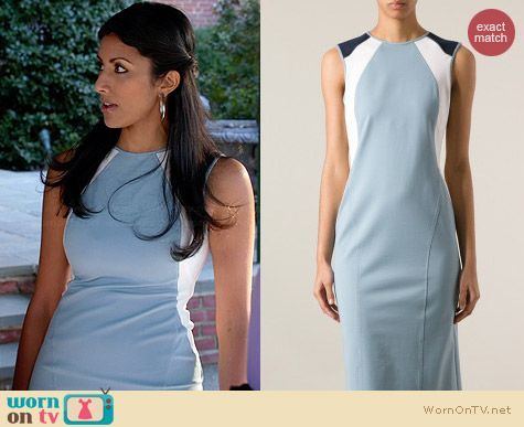 Philosophy Di Alberta Ferretti Panelled Dress worn by Reshma Shetty on Royal Pains