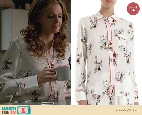 Piamita City Tour Isabella Pajamas worn by Stana Katic on Castle