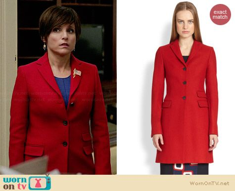 Piazza Sempione Wool Three-Button Coat worn by Julia Louis Dreyfus on Veep