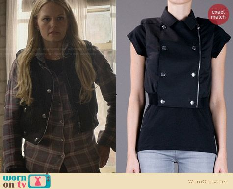 Pierre Balmain Cropped Double Breasted Gilet worn by Jennifer Morrison on OUAT