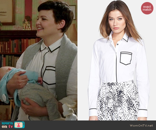 Pink Tartan One-Pocket Trompe L'Oeil Shirt worn by Ginnifer Goodwin on OUAT