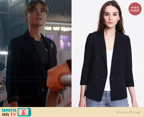 Pins & Needles Double Breasted Blazer worn by Jenna Coleman on Doctor Who