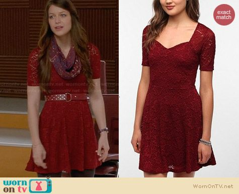 Pins & Needles Sweetheart Lace Dress worn by Melissa Benoist on Glee