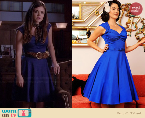 Pinup Couture Heidi Dress worn by Lucy Hale on PLL