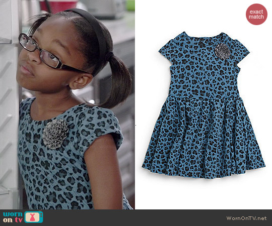 Pippa & Julie Leopard Print Dress worn by Marsai Martin on Black-ish