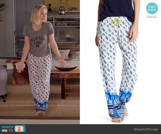 PJ Salvage Coastal Border Pant worn by Kristen Bell on The Good Place