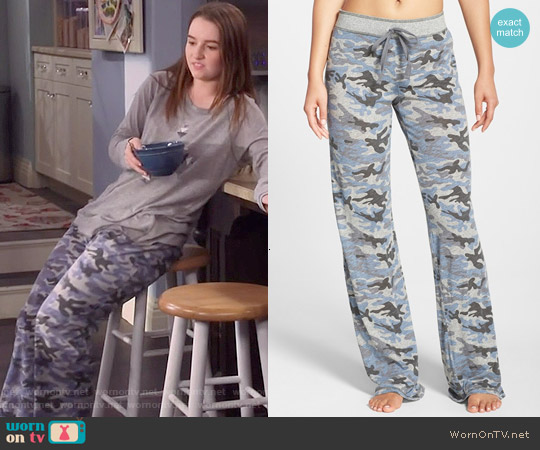 PJ Salvage Camo Pajama Pants worn by Eve Baxter on Last Man Standing