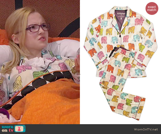 PJ Salvage Elephant Pajamas worn by Dove Cameron on Liv & Maddie