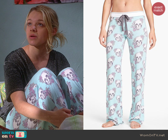 PJ Salvage Floral Skully Pants worn by Sadie Calvano on Mom