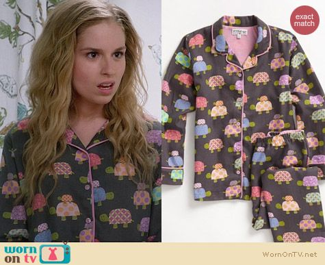 PJ Salvage Turtle Pajamas worn by Allie Grant Suburgatory