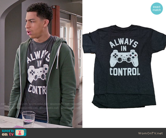 Playstation Controller Always In Control T-shirt worn by Marcus Scribner on Blackish
