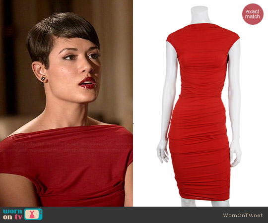 Plein Sud Fitted Open Back Dress worn by Grace Gealey on Empire
