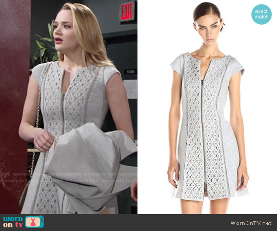 Plenty by Tracy Reese Cap Sleeve Shift Dress worn by Hunter King on The Young & the Restless