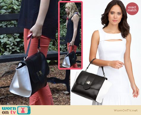 PLL Bags: Bebe Newport Leather Satchel worn by Ashley Benson