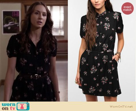 PLL Dresses: Kimchi Blue Winnie Western Shirtdress worn by Troian Bellisario