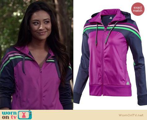 PLL Fashion: Adidas Climalite Training Jacket worn by Shay Mitchell