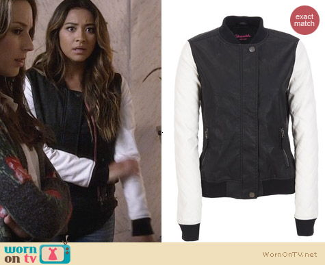 Fashion of PLL: Aeropostale Contrast Bomber Jacket worn by Shay Michell