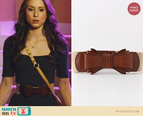 PLL Fashion: Anthropologie Bow Tied Luster belt worn by Troian Bellisario