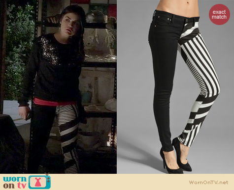 PLL Fashion: Frankie B Gemini Jeans worn by Lucy Hale