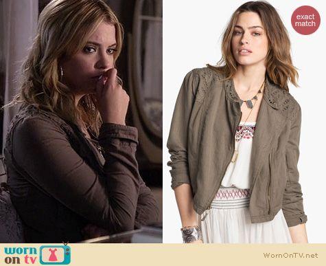 PLL Fashion: Free People Cutwork Jacket worn by Ashley Benson