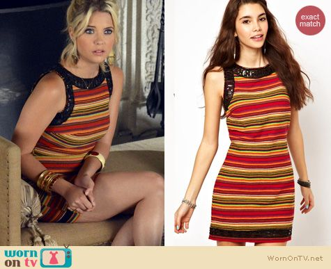 PLL Fashion: Free People Tapestry dress worn by Ashley Benson