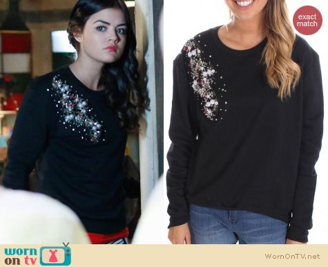 PLL Fashion: God Save LA Bead sweater worn by Lucy Hale