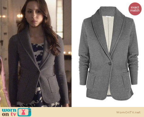 Spencer Hasting Style: Cotton Jersey Blazer by James Perse worn on Pretty Little Liars