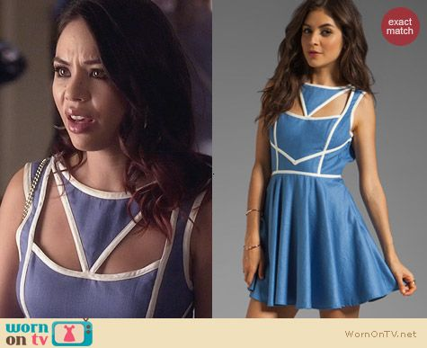 PLL Fashion: Keepsake Never Miss A Beat Dress worn by Janel Parrish