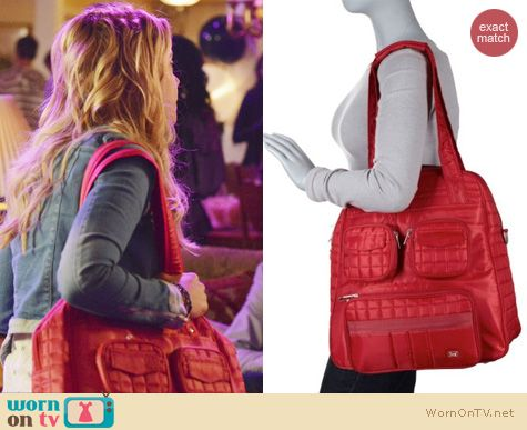 PLL Style: Lug Puddle jumper tote worn by Ashley Benson
