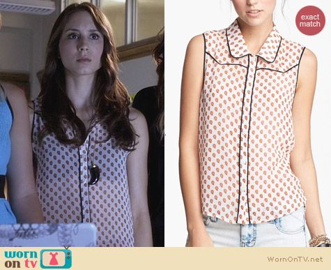 PLL Fashion: Lush Juniors Sleeveless Western Top worn by Troian Bellisario
