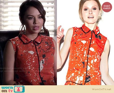 PLL Fashion: Made Fashion Week for Impulse Painterly drop waist dress worn by Janel Parrish
