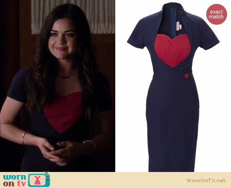 PLL Fashion: Pinup Couture Veronica Dress worn by Lucy Hale