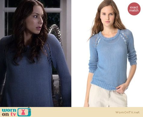 PLL Fashion: Rag and Bone Bay sweater worn by Troian Bellisario