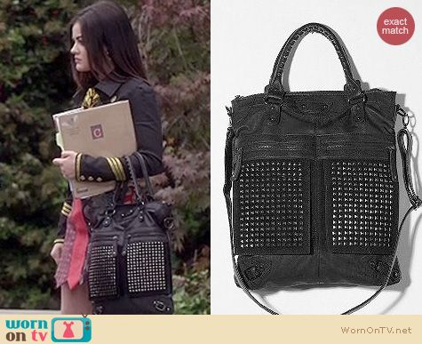 PLL fashion: Urban Outfitters Studded tote by 7 Chi worn by Lucy Hale