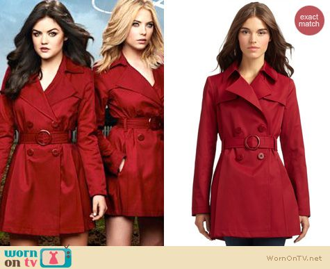 PLL Fashion: Via Spiga Red trench coat