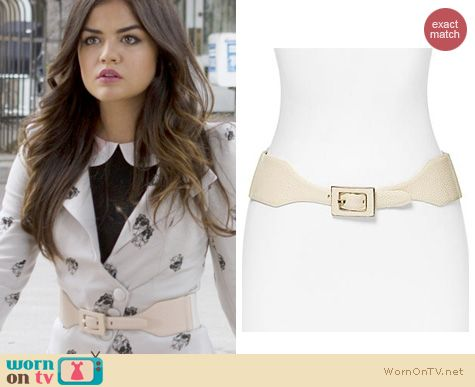 PLL Fashion: Vince Camuto Stingray Embossed Belt worn by Lucy Hale