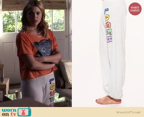 PLL Fashion: Wildfox Loser Baby Gidget Sweats worn by Ashley Benson