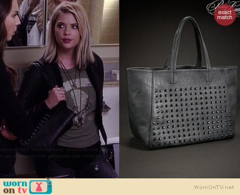 Aeropostale PLL Hanna Studded Faux Leather Tote worn by Ashley Benson on PLL
