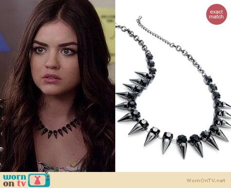 PLL Jewelry: Bar III Spike Glass necklace worn by Aria Montgomery