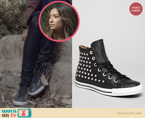 PLL Shoes: Converse All Star Studded Sneakers worn by Shay Mitchell