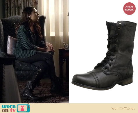 PLL Shoes: Steve Madden Troopa Boots worn by Shay Mitchell