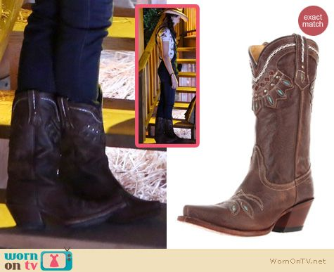 PLL Shoes: Tony Lama Rancho Boots in chocolate worn by Troian Bellisario